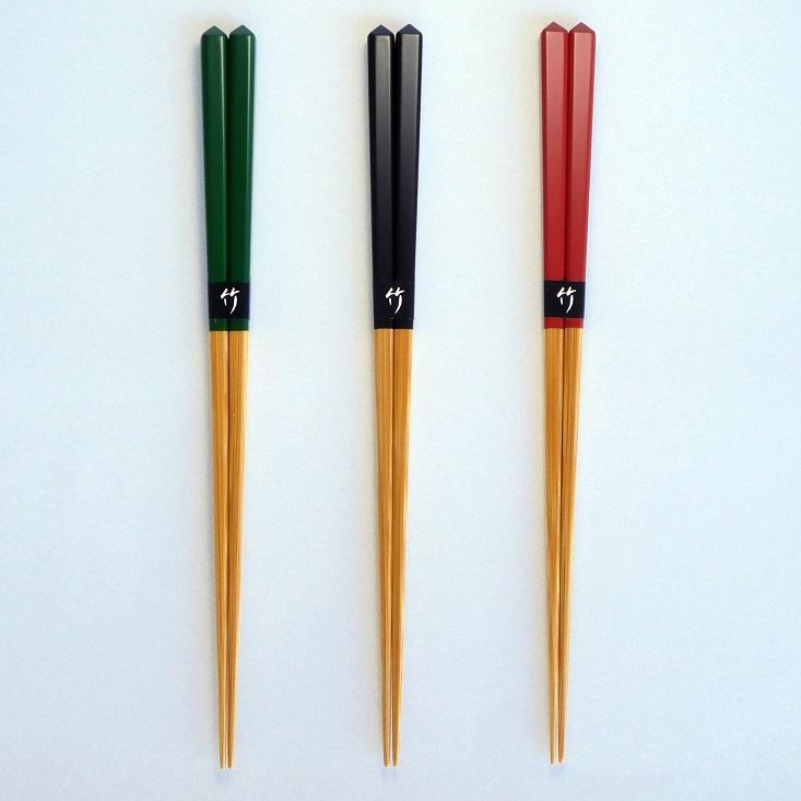ダイヤカットちゃんこ箸・3色