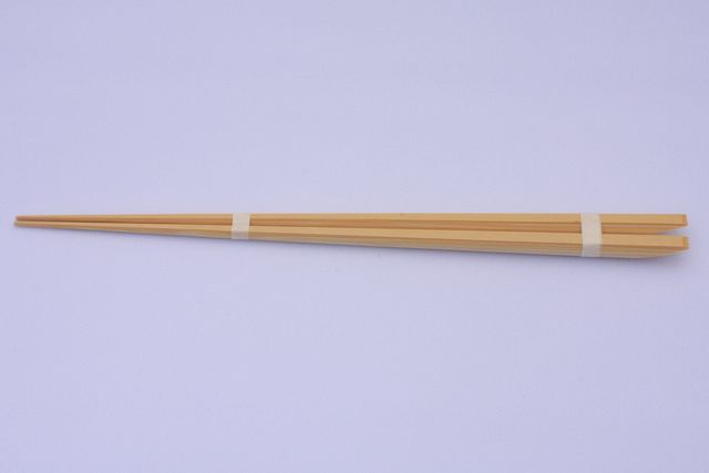 丸皮付菜箸